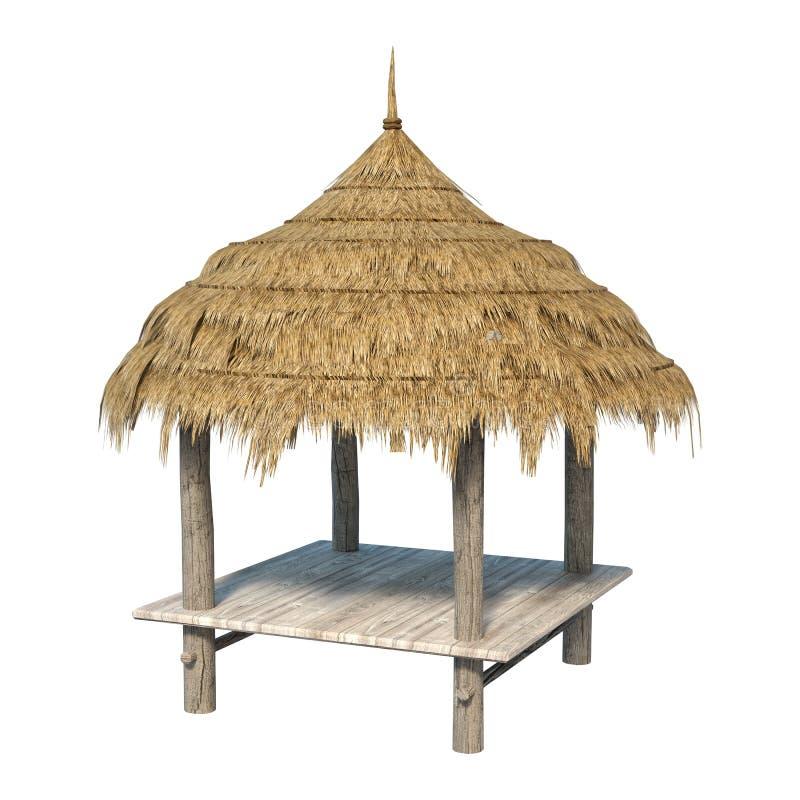 3D che rende Straw Pavilion su bianco