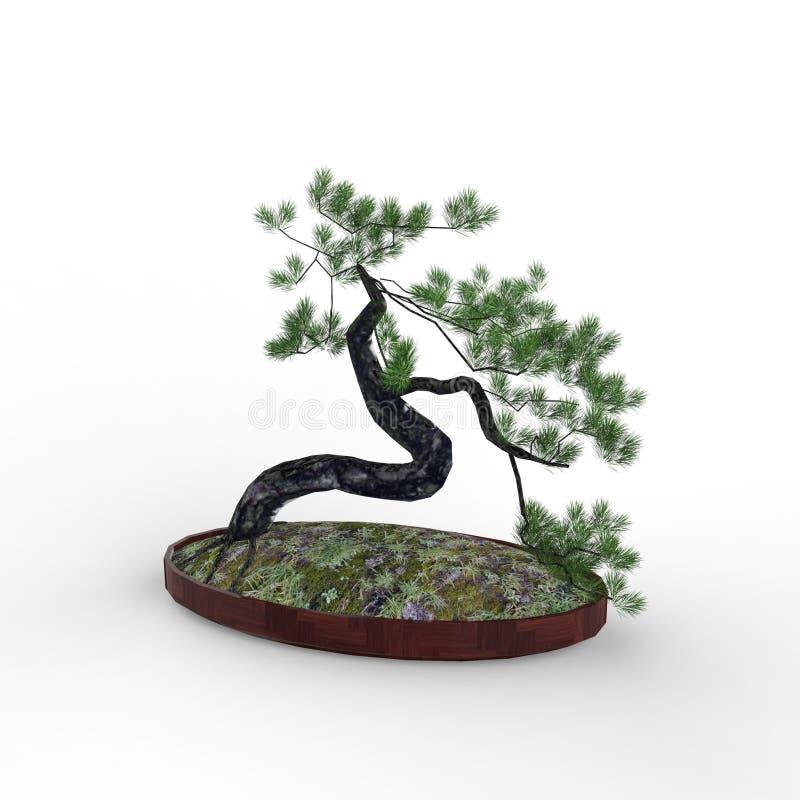 3d che rende un bonsai creato usando uno strumento del miscelatore royalty illustrazione gratis