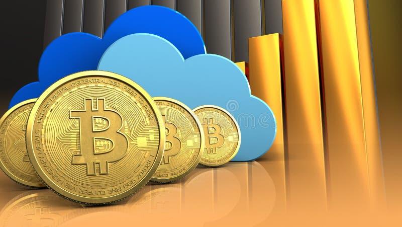 3d chmury ilustracji
