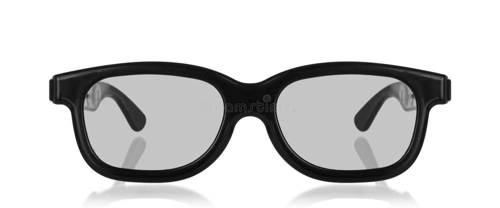 3D cinema glasses isolated on a white royalty free stock photos