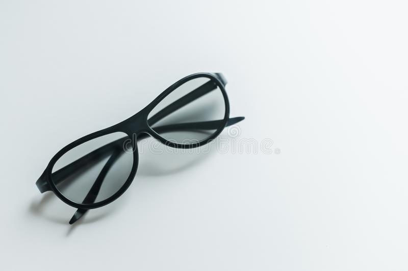 3D cinema glasses  on a white background. stock photography