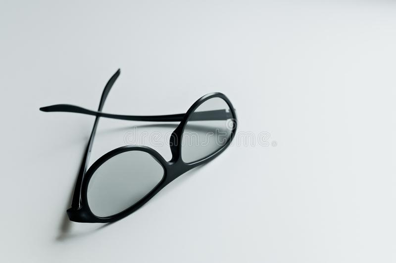 3D cinema glasses  on a white background. royalty free stock photos