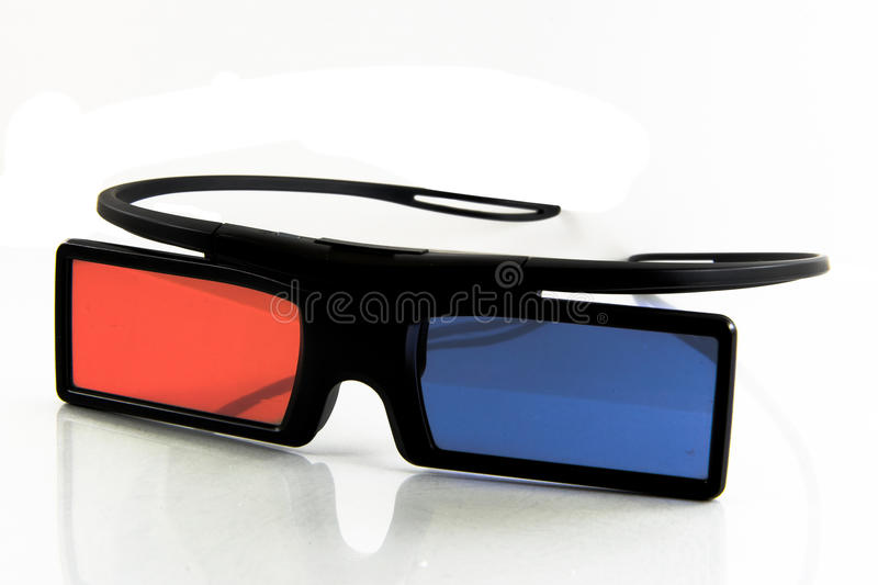 3D cinema glasses isolated on white background. stock image