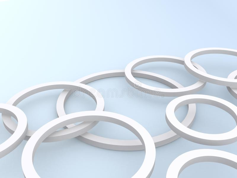 3d circles. Abstract background of 3d circles lying on top of each other vector illustration