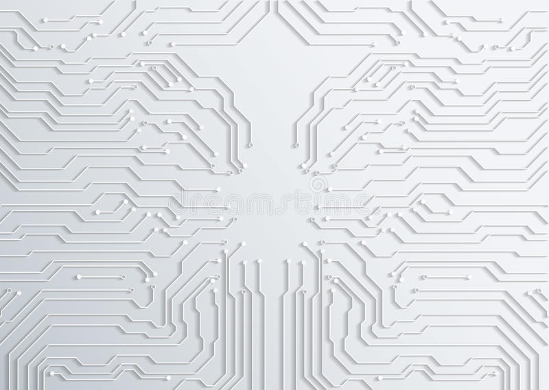 3d circuit board background texture - vector stock illustration