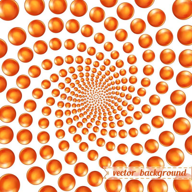3d circular spiral of spheres background backdrop stock illustration