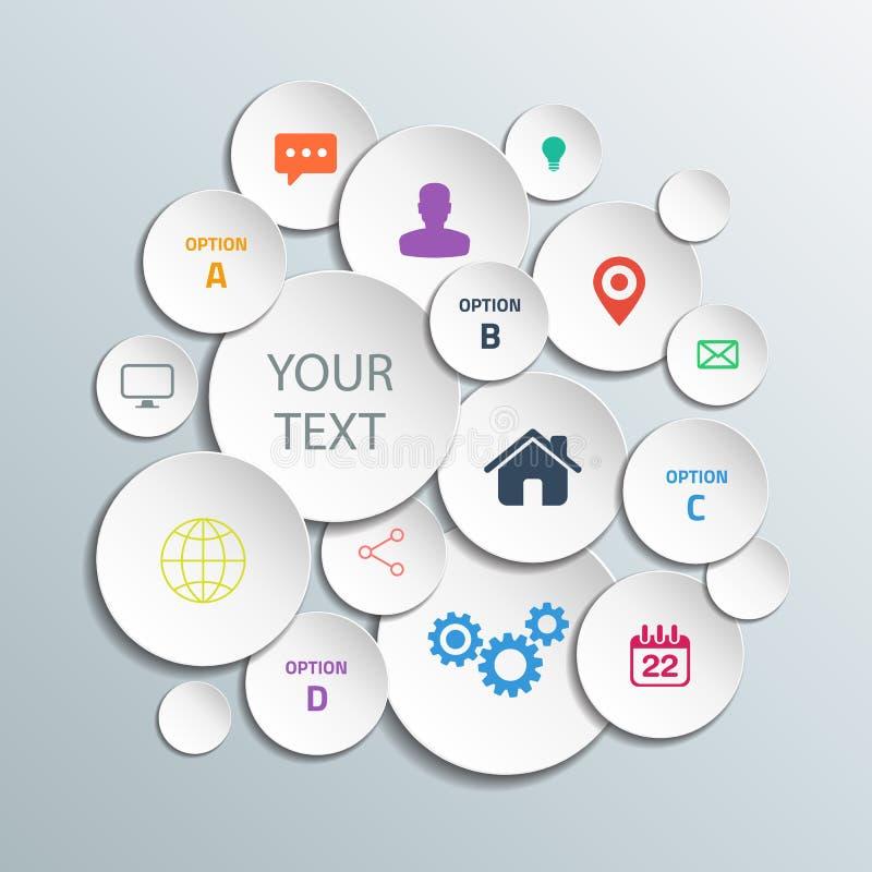 3d circunda gráficos da informação para a disposição do fluxo de trabalho, diagrama, opções do número, design web ilustração do vetor