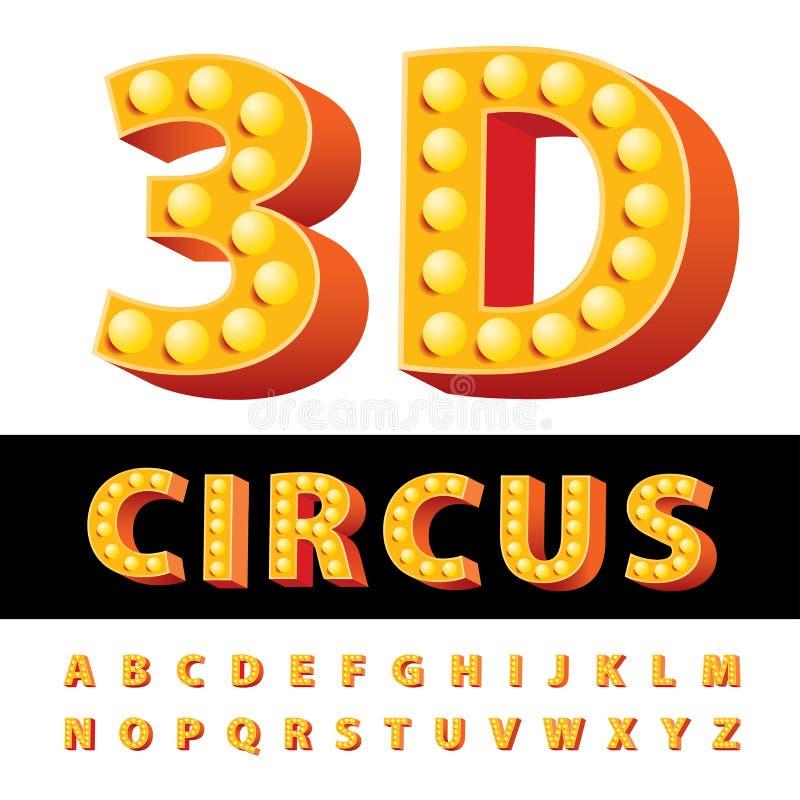 3D circusdoopvont stock illustratie