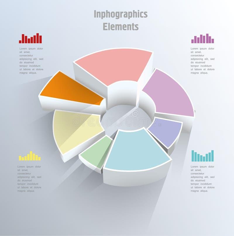 Cirkeldiagramgrafiek. royalty-vrije illustratie