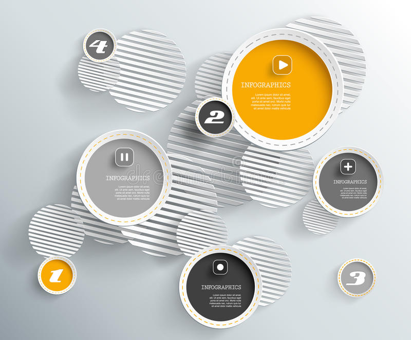 3d cirkels met schaduwen en plaats voor uw eigen tekst vector illustratie