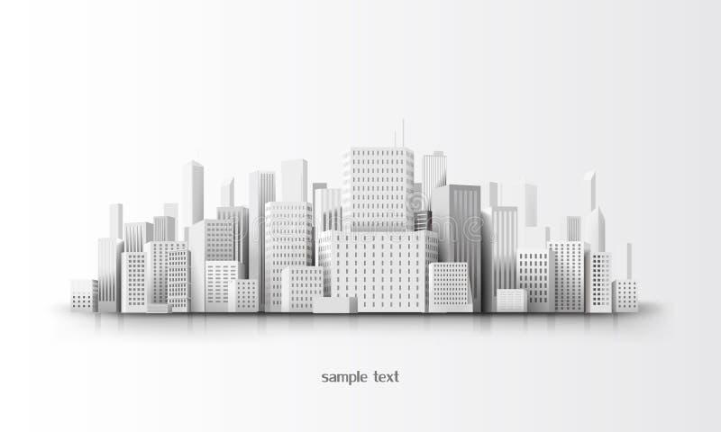 3d city. Vector illustration of city landscape