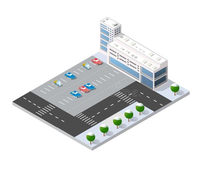 3d cityscape stad vector illustratie