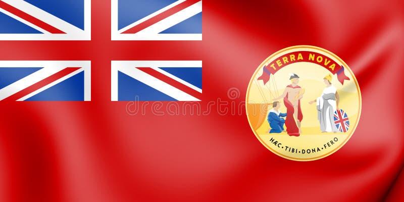 3D Civil ensign of Newfoundland 1918-1949, Canada. 3D Illustration royalty free illustration