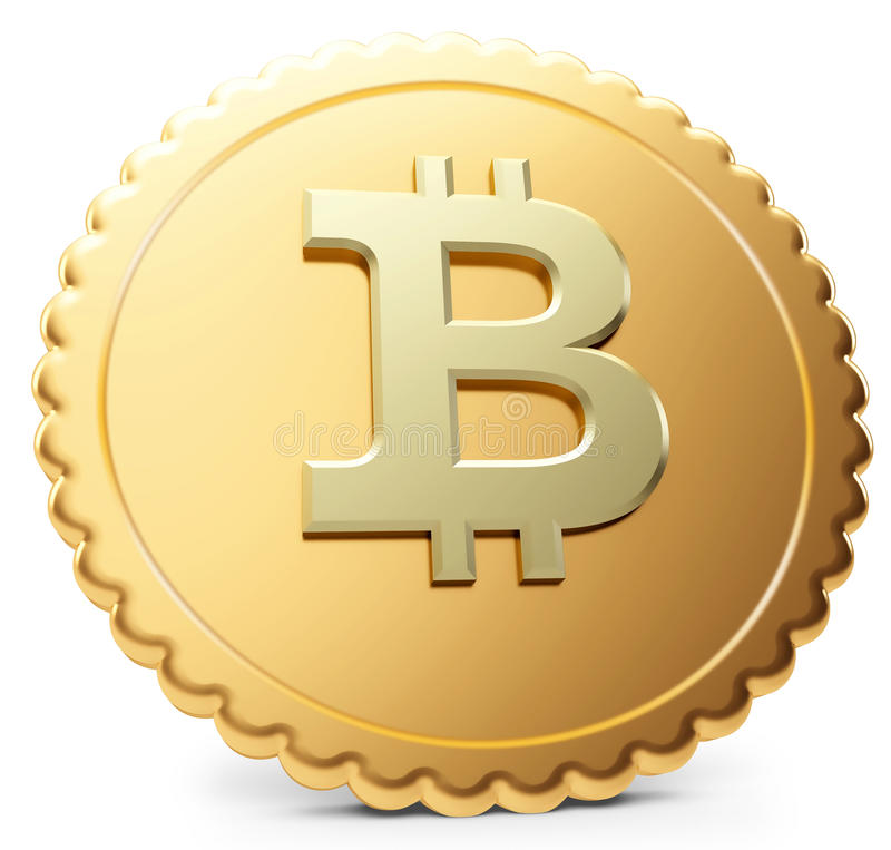 Download 3d Close-up Of Golden Bitcoin Coin, Decentralized Crypto-currency Royalty Free Stock Photo - Image: 37473505