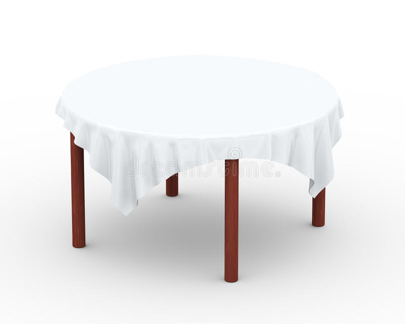 3d cloth on round table royalty free illustration