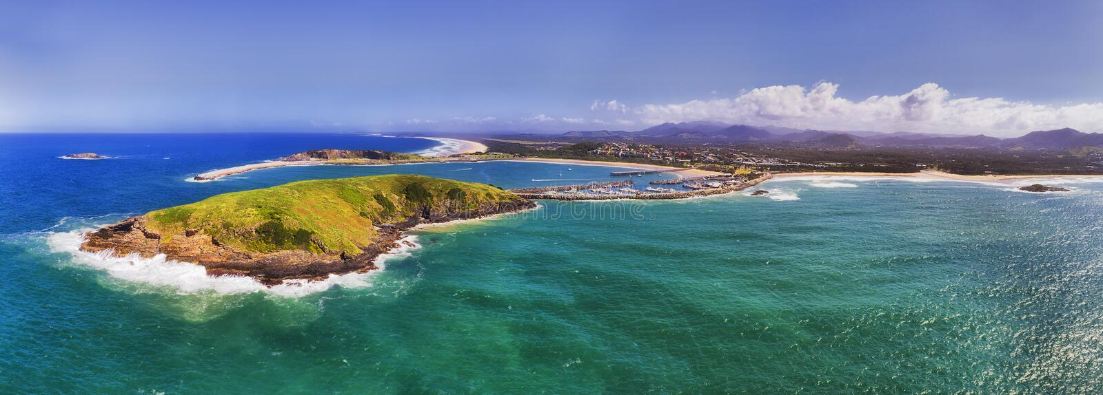D Coffs Harbour From sea pan stock photography