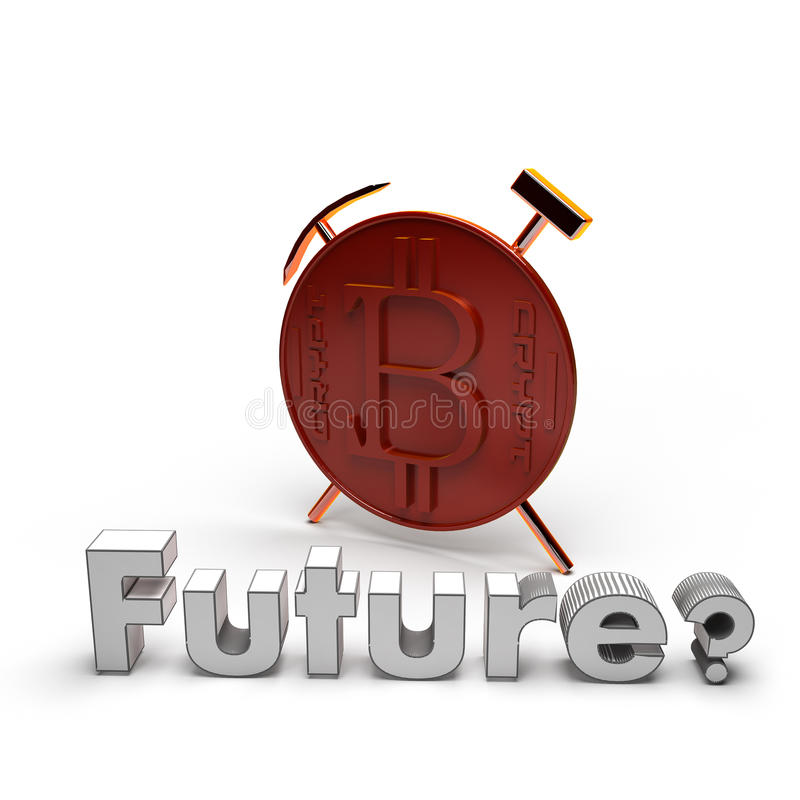 3d coin with logo cryptocurrency Bitcoin royalty free stock image