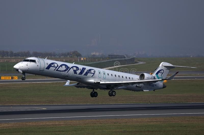 D?collage d'avion d'Adria Airways image stock