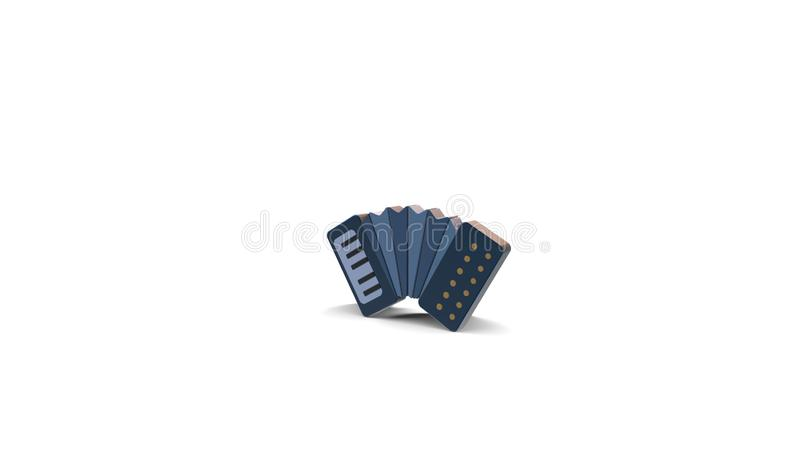 3d color icon of accordion stock illustration