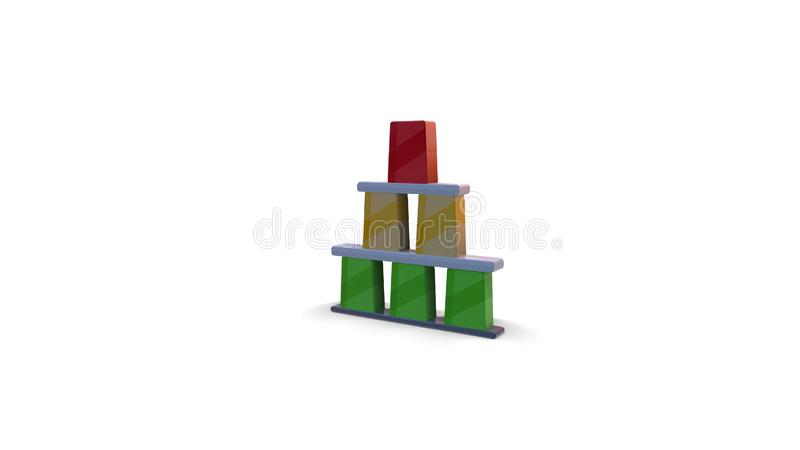 3d color icon of amusement park bottle pyramid royalty free illustration