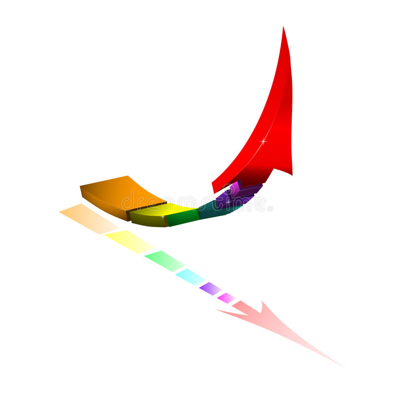 3D colored arrow. royalty free stock image