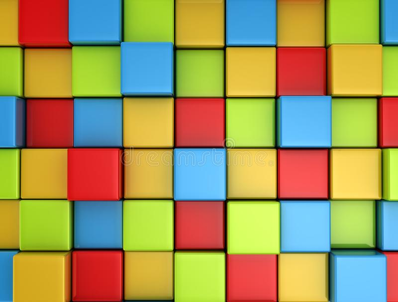 3d multi colored cubes background stock photos