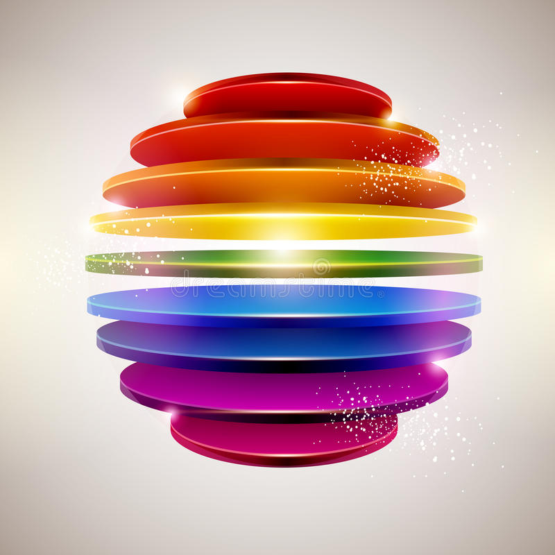 3D colorful ball royalty free illustration