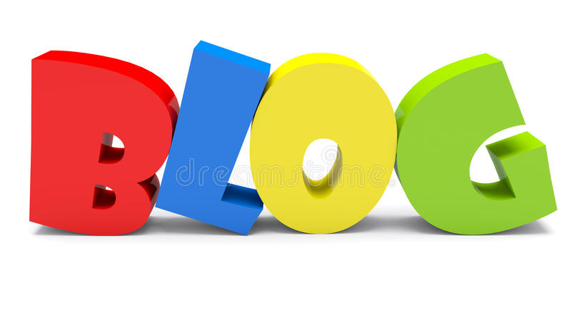 3D Colorful Blog Text vector illustration