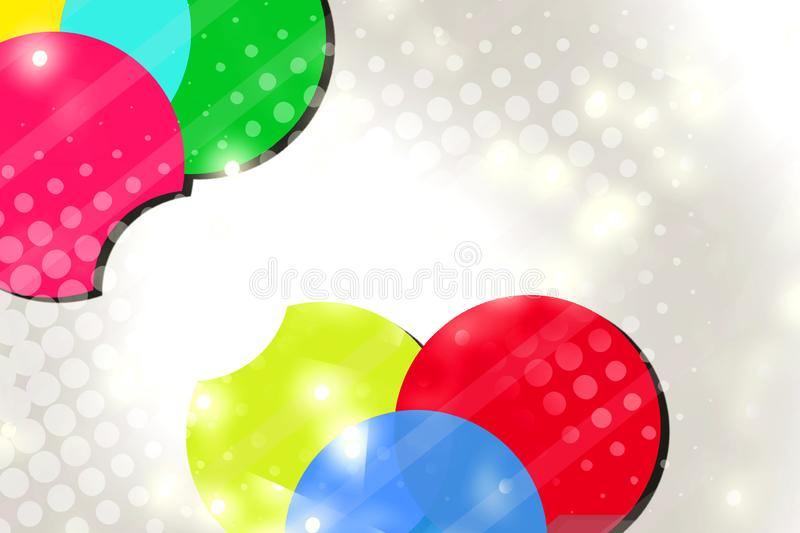 3d colorful circle overlap  abstract background. 3d colorful circle overlap abstract background - creative background stock illustration