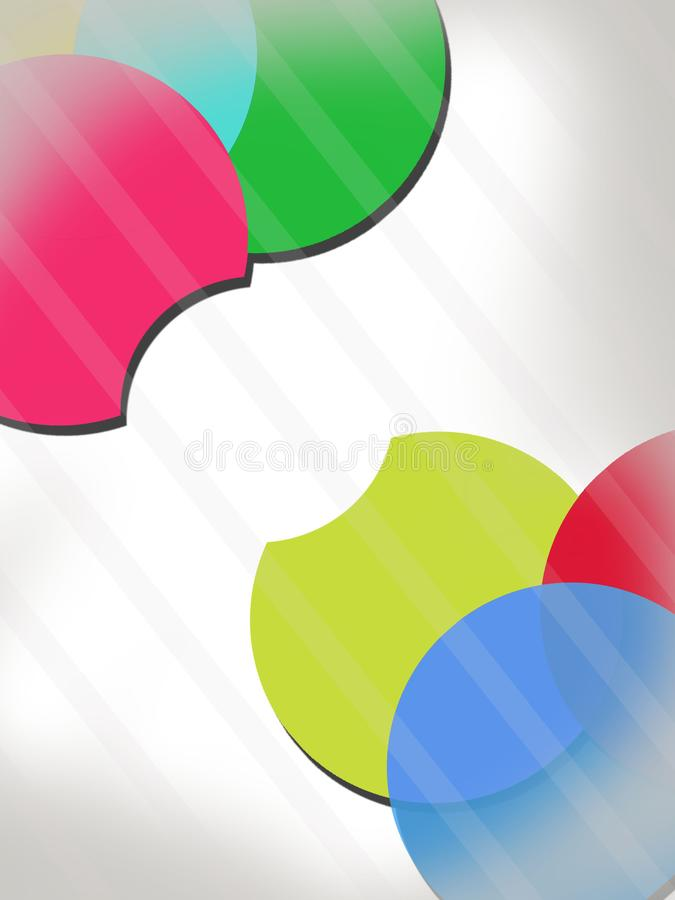 3d colorful circle overlap  abstract background. 3d colorful circle overlap abstract background - vertical creative background vector illustration