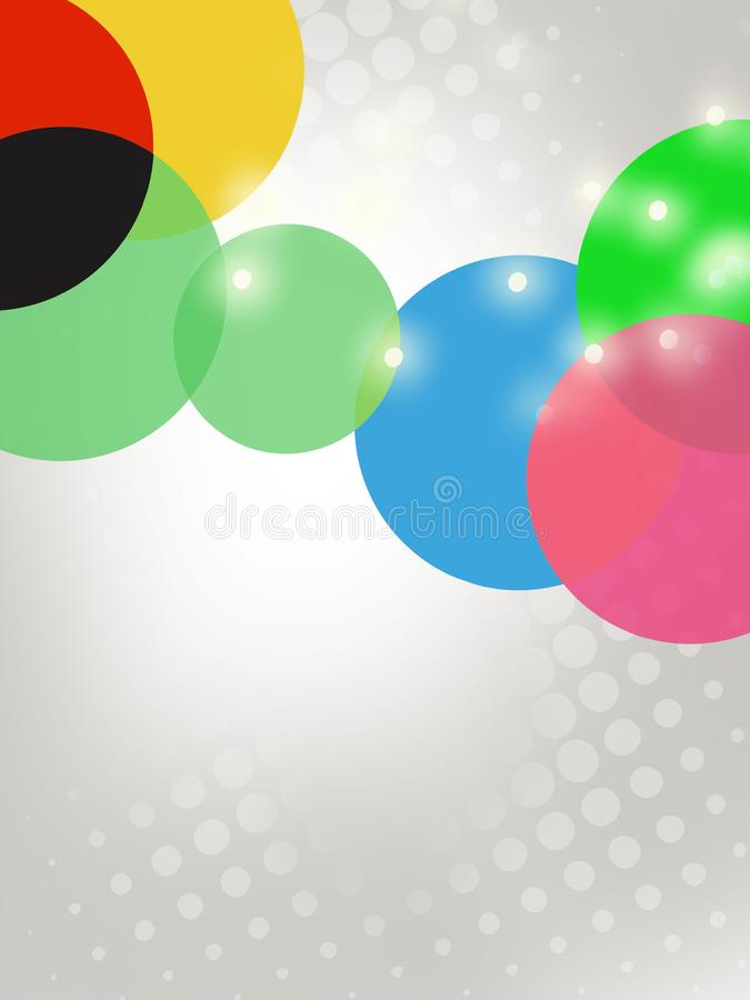 3d colorful circle overlap with star abstract background. Vertical creative background royalty free illustration