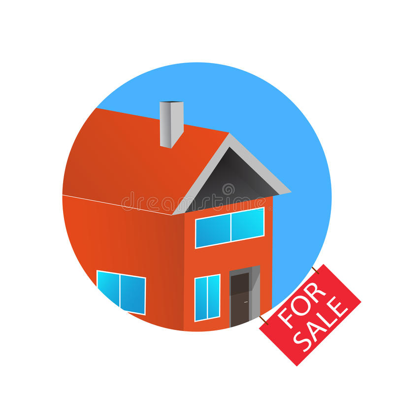 3d Colorful House Concept. House Flat Icon. Design Your