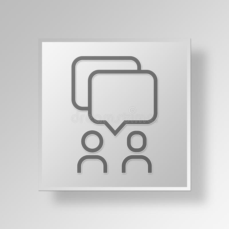 3D Communication icon Business Concept vector illustration