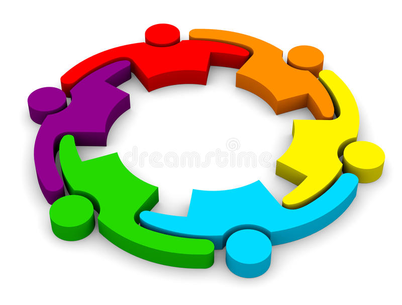 3D Community People Logo 6 - Group of persons. Concept for a community, social, teamwork business royalty free illustration