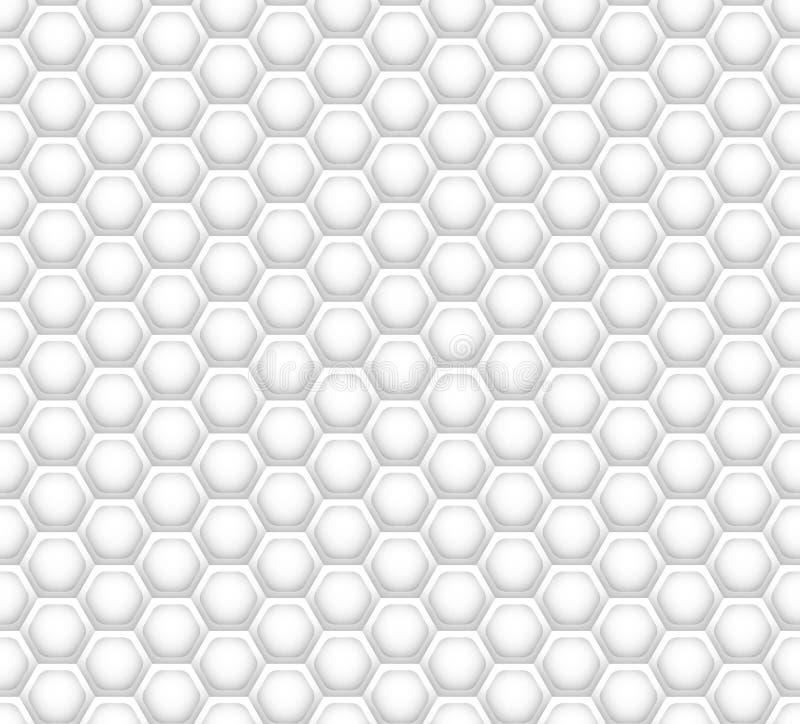 3D como la textura blanca del panal ilustración del vector