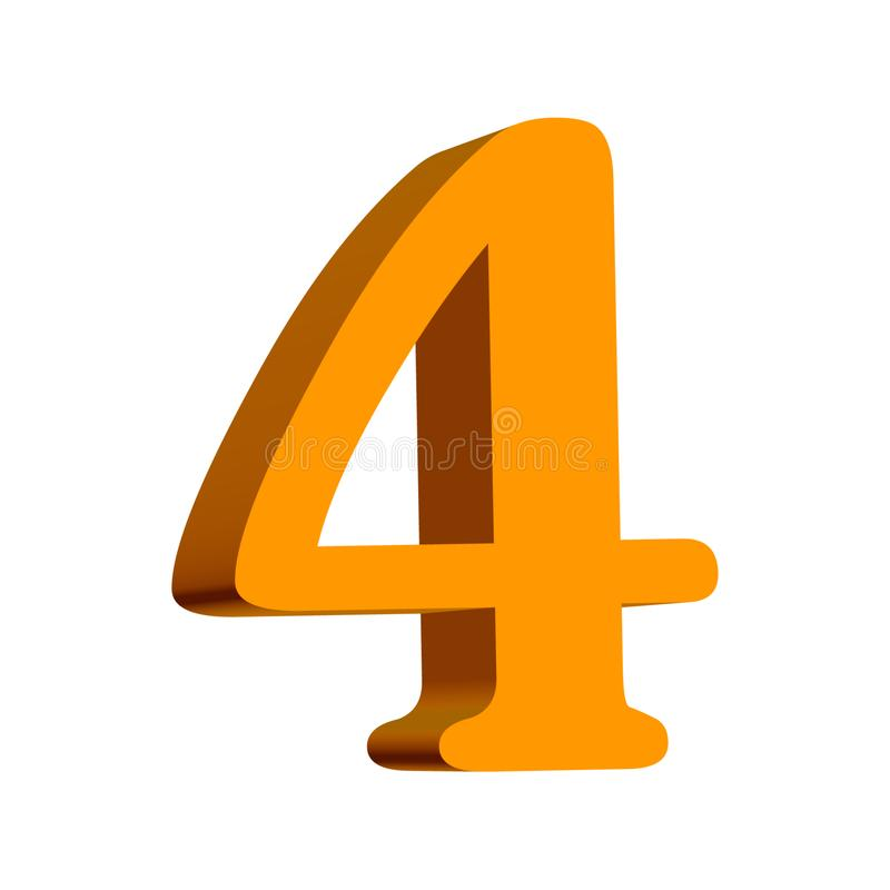 Four golden number stock illustration