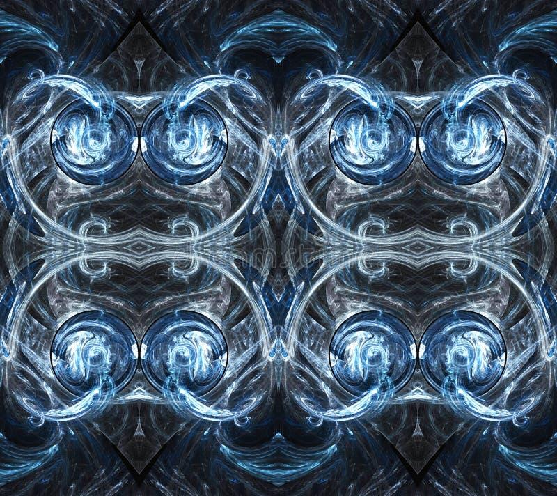 3d computer geproduceerde gloeiende heldere futuristische kunstwerkachtergrond royalty-vrije illustratie