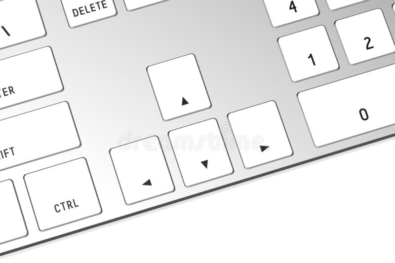3D computer keyboard - arrows stock images