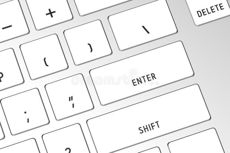 3D computer keyboard - close-up stock photos