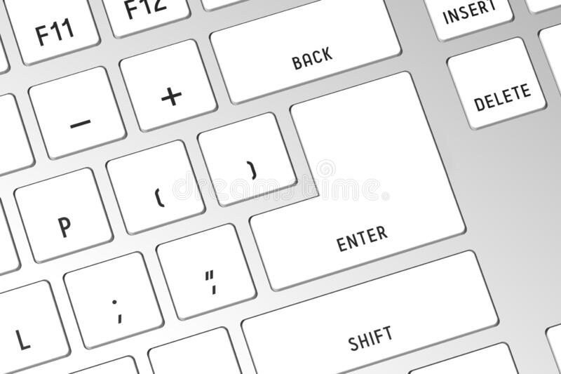 3D computer keyboard - close-up royalty free stock photography