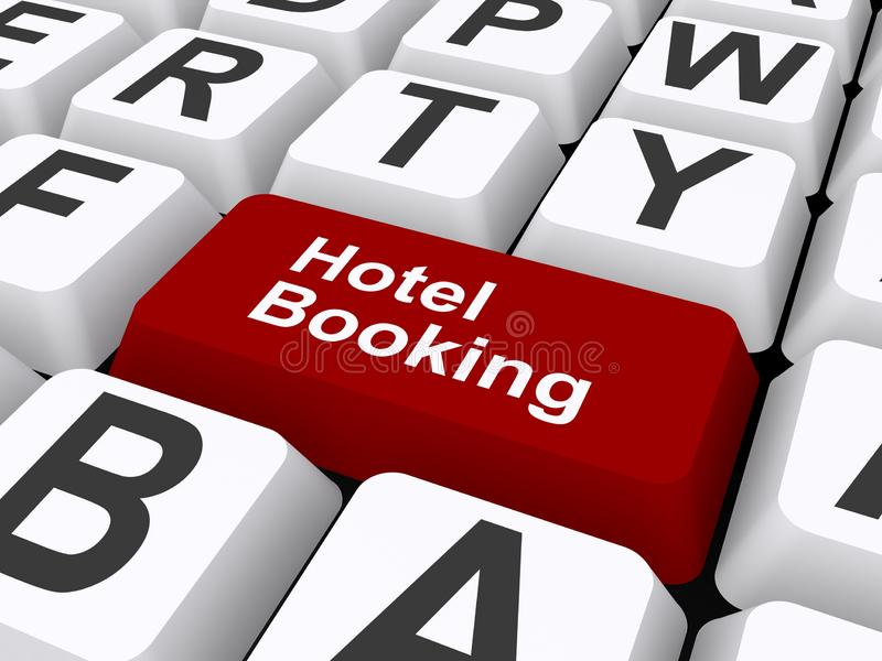 Hotel booking illustration royalty free illustration