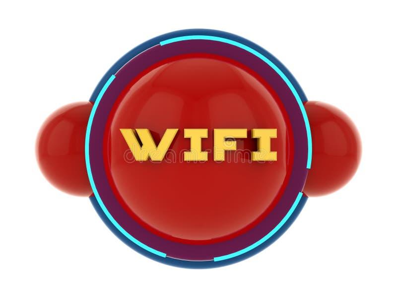 3d concept van het Wifipictogram stock illustratie