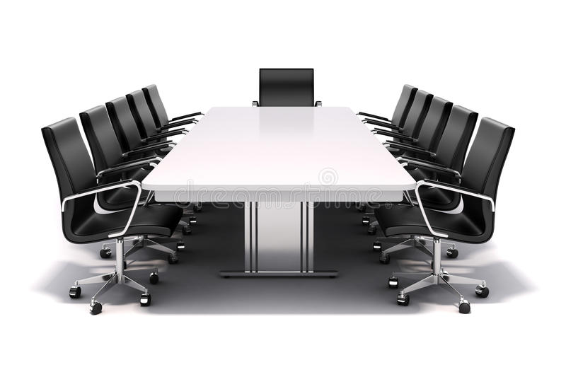 3d conference table and chairs stock illustration for Meeting table design 3d