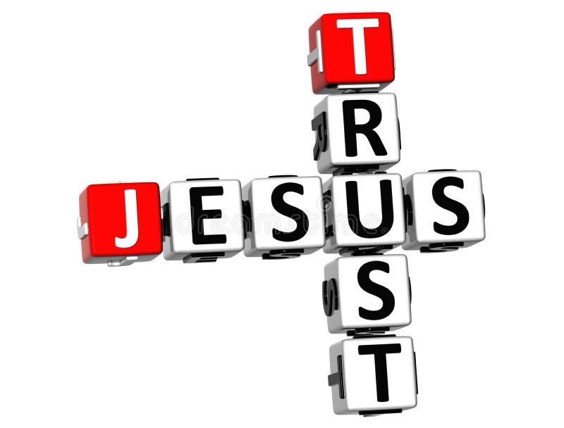 3D confiança Jesus Crossword ilustração do vetor