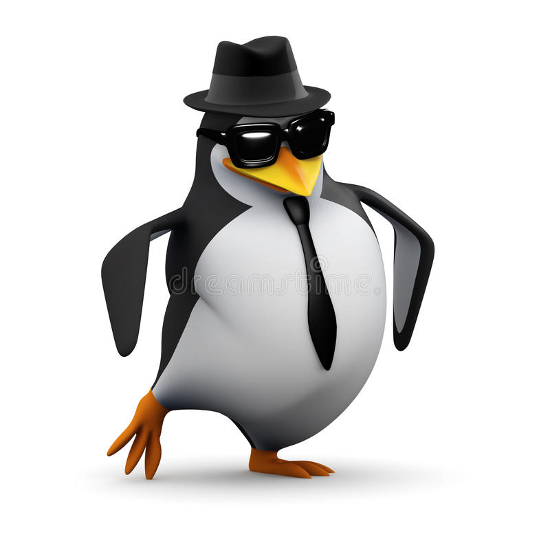 3d Cool penguin does his dance vector illustration