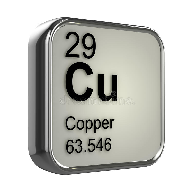 3d Copper Element Stock Illustration Image Of Gases