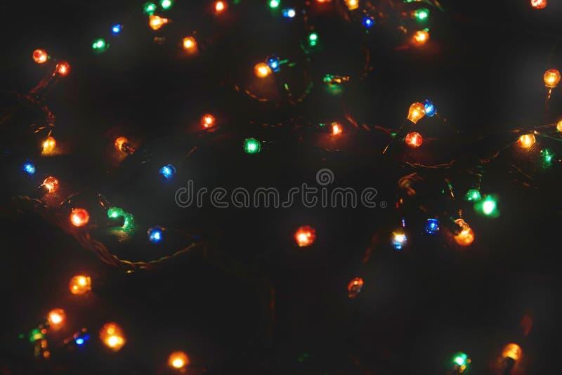 D?cor d'ampoule Guirlande avec photographie stock libre de droits