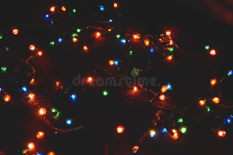 D?cor d'ampoule Guirlande avec photos stock