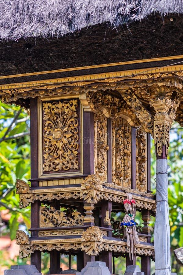D?coration comm?morative au compos? de clan, Dusun Ambengan, Bali Indon?sie image stock
