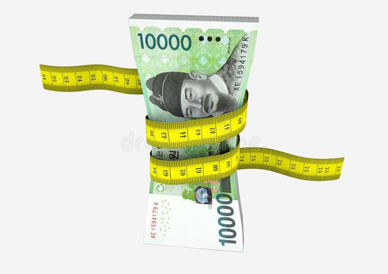 3D Coreia do Sul com pares de tesouras ilustração do vetor